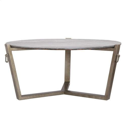 Round Coffee Table Base - Carbon Steel Finish