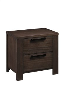 2 Drawer Nightstand-walnut Finish#wn41