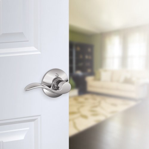 Accent Lever Non-Turning Lock - Bright Chrome