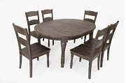 Madison County Round To Oval Table With 4 Chairs - Barnwood Product Image