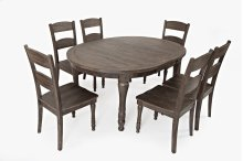 Madison County Round To Oval Table With 4 Chairs - Barnwood