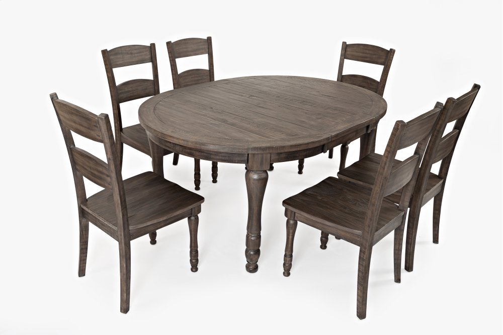 Madison County Round To Oval Dining Table   Barnwood