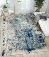 Maxell Mae16 Ivory Blue Rectangle Rug 3'10'' X 5'10''