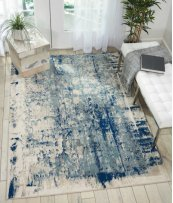 Maxell Mae16 Ivory Blue Rectangle Rug 3'10'' X 5'10''