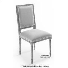 Square Back Side Chair Frame, Leather