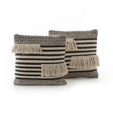 "18x18"" Size Split Fringe Pillow, Set of 2"