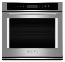 """27"""" Single Wall Oven with Even-Heat Thermal Bake/Broil - Stainless Steel"""