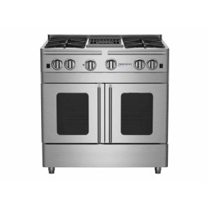 "Bluestar36"" Precious Metals Range with 12"" Charbroiler"