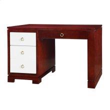 Brooke Desk w/ Bronze Pulls, Golden Mahogany