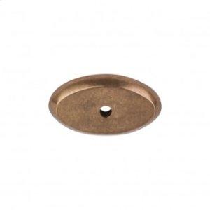 Aspen Oval Backplate 1 1/2 Inch - Light Bronze