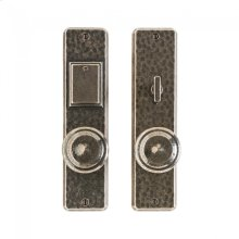 """Hammered Entry Set - 2 1/2"""" x 10"""" Silicon Bronze Brushed"""