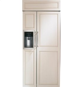 """36"""" Built-In Side-By-Side Refrigerator with Dispenser"""