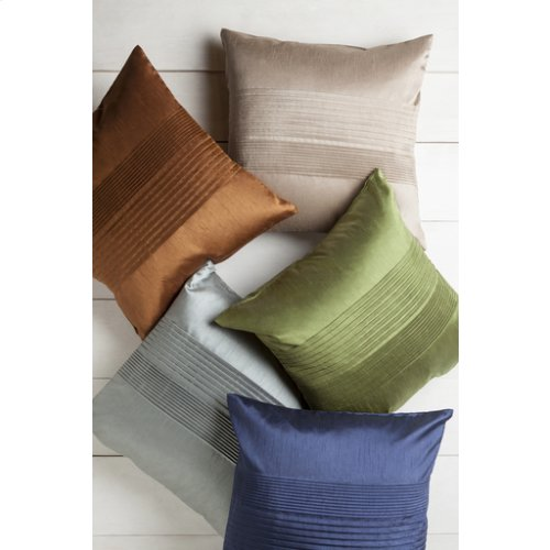 "Solid Pleated HH-029 22"" x 22"" Pillow Shell with Polyester Insert"