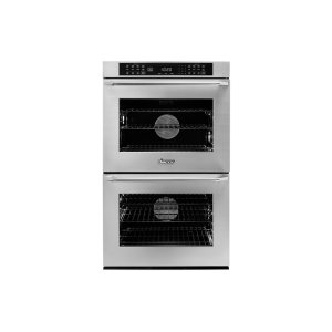 "Dacor30"" Heritage Double Wall Oven, Silver Stainless Steel with Epicure Style Handle (Chrome End Caps)"