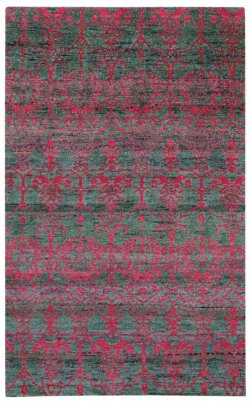 Carousel-Acrobat Watermelon Hand Knotted Rugs