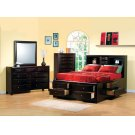 Phoenix Cappuccino King Five-piece Bedroom Set Product Image