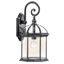 """Barrie Collection Barries 18.75"""" 1 Light Outdoor Wall BK"""
