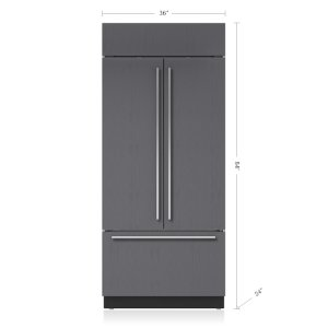 "Subzero36"" Classic French Door Refrigerator/Freezer with Internal Dispenser - Panel Ready"