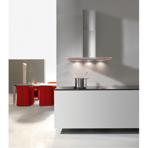 DA 6296 W Lumen AM Wall ventilation hood with energy-efficient LED lighting and backlit controls for easy use.