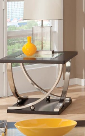 End Table, W/glass