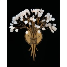 Ceres: Quartz Crystal Single-Light Sconce