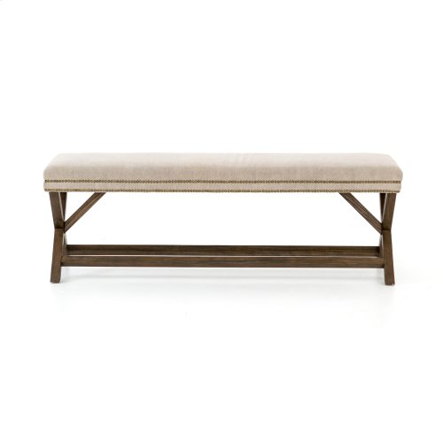 Heather Twill Stone Cover Elyse Bench