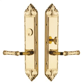 Lifetime Polished Brass Fenwick Escutcheon Entrance Set