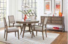Apex Round to Oval Pedestal Table