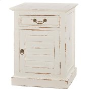 Small Shutter Nightstand Cabinet Product Image