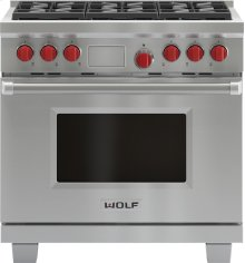 "36"" Dual Fuel Range - 6 Burners"