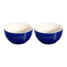 "Staub Ceramics 6.5"" Universal Bowl Set, Dark Blue"
