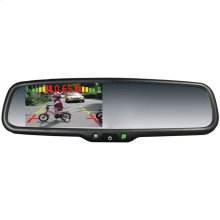 "OEM Replacement-Style Mirror Monitor System with 4.3"" Screen, Built-in Parking-Assist Lines & 4 Sensors"