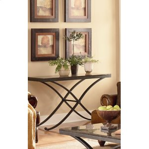 Stone Top End Table