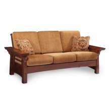 MaKayla Sofa, Leather Cushion Seat