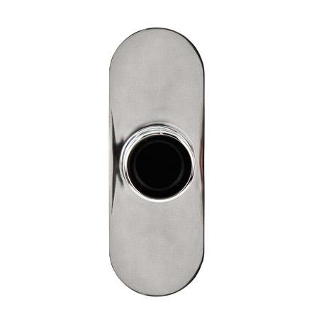 Polished Chrome Curved Shower Rod Brackets