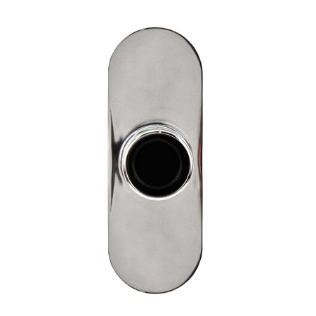 Polished Chrome Curved Shower Rod Brackets