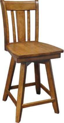 "24"" Canyon Swivel Stool Pecan Only"