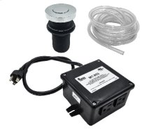 """Round """"Deluxe"""" Flush Waste Disposer Air Switch with Freedom Mount"""