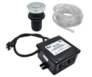 """Round """"Deluxe"""" Flush Waste Disposer Air Switch with Freedom Mount Product Image"""