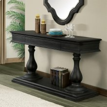 Corinne - Pedestal Server Top - Ebonized Acacia Finish