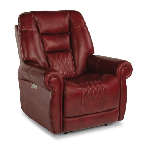 Maverick Leather Power Recliner with Power Headrest