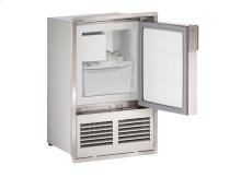 "Marine Series 14"" Marine Crescent Ice Maker With Stainless Solid Finish and Field Reversible (flush To Door) Door Swing"