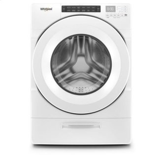 Whirlpool(R) 4.5 cu. ft. Closet-Depth Front Load Washer with Load & Go(TM) Dispenser - White