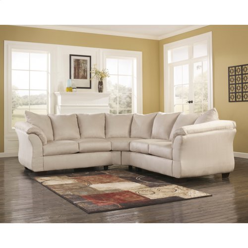 Signature Design by Ashley Darcy Sectional in Stone Microfiber [FSD-1109SEC-STO-GG]