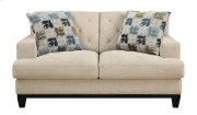 Loveseat Khaki W/2 Accent Pillows Product Image