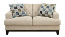Loveseat Khaki W/2 Accent Pillows