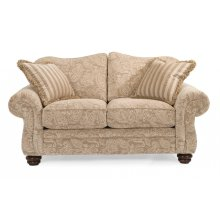 Bexley One-Tone Fabric Loveseat without Nailhead Trim
