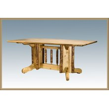Glacier Country Log Double Pedestal Table