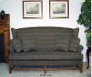 High Back Sofa Oak Finish Chippendale Base - One Cushion Product Image