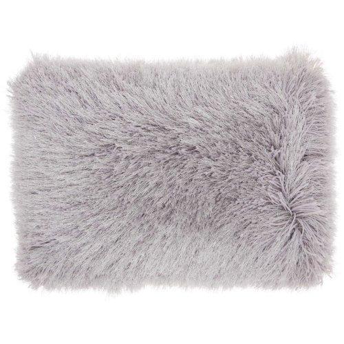 "Shag Tl004 Light Grey 14"" X 20"" Throw Pillows"